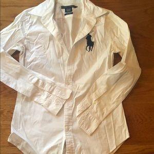 Ralph Lauren Women's Slim Fit Button Down Size 4